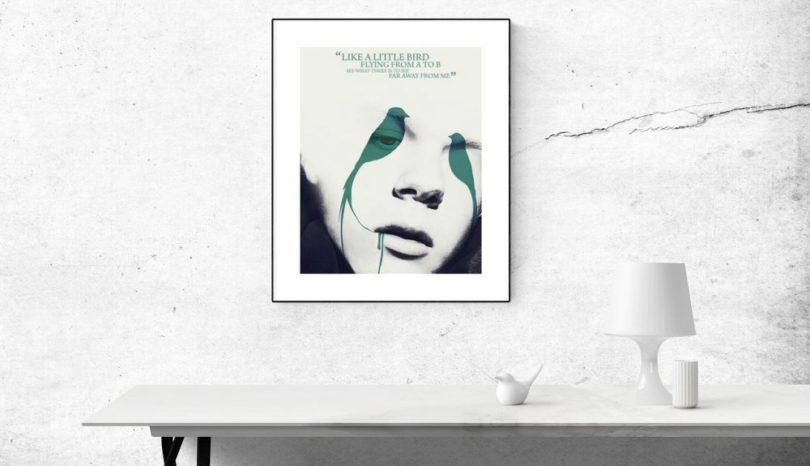 Inred hemmet med snygga affischer
